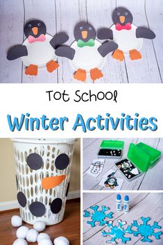 In Daycare/Tot School we have been reading tons of winter books and have enjoyed playing with all things white and wintery. Our kiddos loved these Winter Activities for Toddlers. Toddler Gross Motor Activities, Winter Activities For Toddlers, Preschool Winter, Tot School, Sensory Play, Toddler Crafts, Teacher Stuff, Art Projects, Crafty