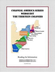 The United States was formed from thirteen British colonies in 1776. The original colonies were founded by a variety of people for many reasons. Your students learn about this important time in history as they uncover facts while learning to read for information and using research and computer skills. I've included a mapping activity and word find for differentiation or for early finishers. Supports CCSS.ELA-Literacy.RI.4.1-8.1 CCSS.ELA-LITERACY.RI.4.2-8.2 Answer Key included