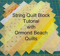 String Quilt Tutorial.  This is a neat way to use up strips.  A great tutorial.