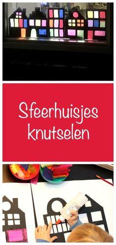 sfeerhuisjesknutselen, sinterklaas, winterknutsel, crafts for kids, Diy For Kids, Crafts For Kids, Home Crafts, Diy Arts And Crafts, Creative Crafts, Hello Winter, Paper Plate Crafts, Paper Plates, Pressed Flower Art