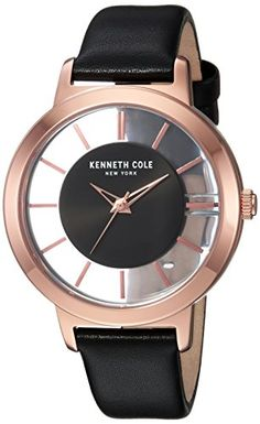 Kenneth Cole New York Women s Quartz Stainless Steel and Leather Casual  Watch 771b69c1ac0