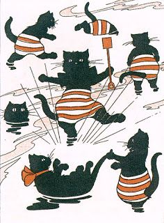 """""""At the seaside"""": Walter Copeland, The Black Cat Book, 1905."""
