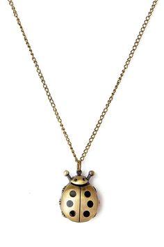 Antique Ladybug Pendant Pocket Watch