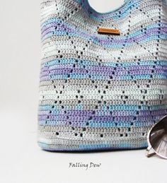 Bags and Purses Handbag Cotton Crochet Handbag Woman by FallingDew