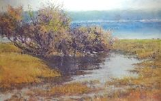 WILLOWS AT THE BANK by bonnie williams in the FASO Daily Art Show
