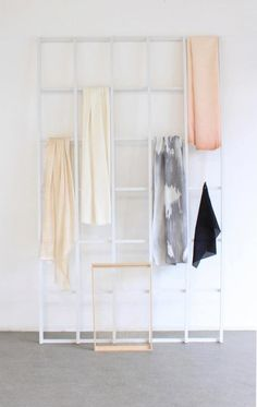 good idea for hanging scarves...though perhaps a smaller window would do