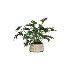 Lux Art Silks Faux Mini Split Leaf Pot (€105) found on Polyvore