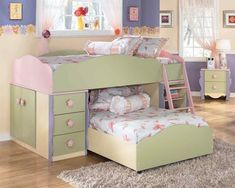 Ashley Furniture/Dollhouse Collection. Jocelyn's new bed she picked at the store today minus the bed under.