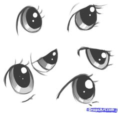 Cartoon Drawings How to Draw My Little Pony Style Cartoon Eyes, Drawing Cartoon Characters, Character Drawing, Cartoon Drawings, Cute Drawings, Realistic Eye Drawing, Drawing Base, Painting & Drawing, Manga Drawing