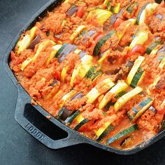 """""""Hi Whole30 friends!! It's Brooke of @bitsofbbskitchen here to share the most deliciously simple meal ever.. Ratatouille! This dish is filled with vegetable goodness and packed with flavor, your family will LOVE it- trust me.. Ratatouille: Ingredients- -1 large eggplant (or two small) sliced and slices cut into fourths. -1 red bell pepper, diced -3 small zucchini, sliced -3 small yellow squash, sliced For the sauce: -3 TBS of minced garlic -1/2 a yellow onion, diced -1 red bell pepper, diced…"""