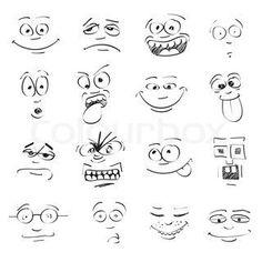Cartoon Drawing Tips - Drawing On Demand Cartoon Eyes, Cute Cartoon Faces, Easy Cartoon, Female Cartoon, Girl Cartoon, Face Images, Cartoon Sketches, Sketch Notes, Face Expressions