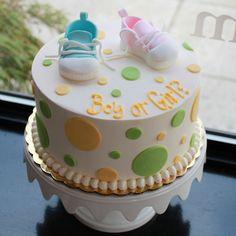 Gender Reveal Cake! LOVE!