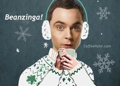 Beanzinga! Sheldon Cooper drinking #coffee!
