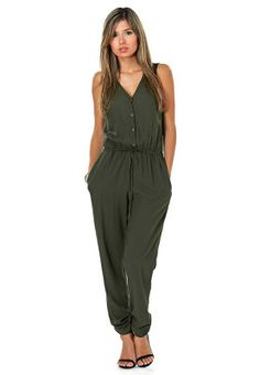Step up your casual closet this season with the Wolf Wood jumpsuit from Vero Moda. Pinned via www.namshi.com
