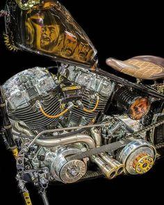 Epic Firetruck's Motor'sicle Motors ~ #harleydavidsonchoppersart