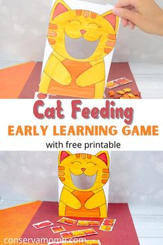 Fun Learning Games, Toddler Learning, Early Learning, Animal Activities For Kids, Infant Activities, Preschool Activities, Yoga Fitness, Yoga Training, Cat Feeding
