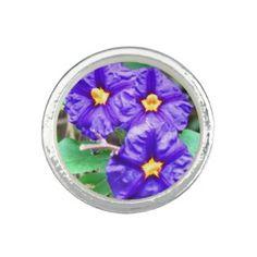Fashion Ring Pretty Purple Flower Photo #zazzle #ring #jewelry