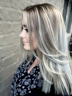 Balayage ash blonde by Essie hair and makeup