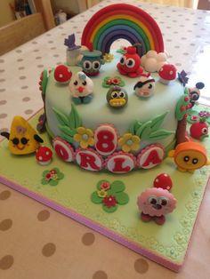 painting birthday cake palette theme cake wood grain