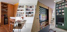 Marcenaria inteligente: 10 ideias de portas que escondem e revelam - Casa Vogue | Ambientes