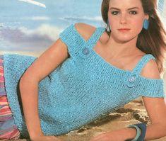 Vintage 1980s Strap Happy Sweater Knitting Pattern PDF 8601