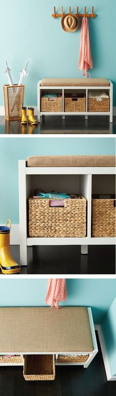 Make your entryway the first impression you always dreamed of with our Division Storage Bench! Its beautiful design holds shoes, accessories and some of our favorite storage bins perfectly and the comfy bench makes a perfect spot for you to sit and slip on your shoes before you go out the door!
