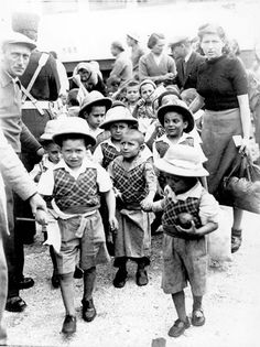 """The """"Tehran Children"""" arrive to Eretz Israel 18 February Israel History, Jewish History, Holocaust Memorial, Holocaust Survivors, Virtual Memory, Lest We Forget, World War Two, Historical Photos, First World"""