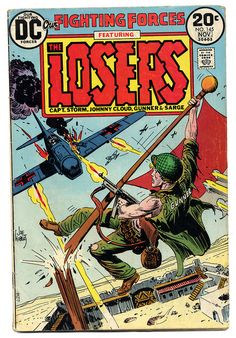 Our Fighting Forces Featuring The Losers. November 1973. Cover by Joe Kubert.