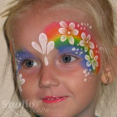 cute face painting for the ren fest Face Painting Images, Face Painting Designs, Face Paintings, Hamsa Tattoo, Orca Tattoo, Halloween Makeup, Halloween Face, Kids Party Wear, Unicorn Face