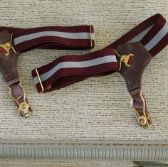 Socks falling down? Strap on these sexy bad boys and you'll never find yourself pulling at your ankles again. Good vintage condition with some light tarnish on hardware. Sock Suspenders, Vintage Underwear, Sheer Socks, Falling Down, Garter, Make You Smile, Bad Boys, Vintage Men, Buy And Sell