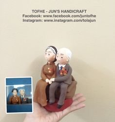 Old couple chibi handmade