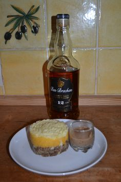 Haggis neeps and tatties stack with whisky sauce - a nice wee starter for French friends