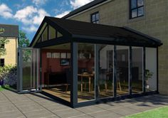Gable Garden Room with Bifolds