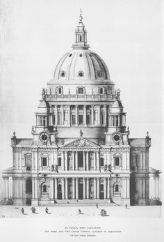 St. Paul's Cathedral: West elevation   by Penn State Libraries Pictures Collection