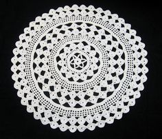 Vintage Crocheted Doily Large Round