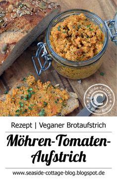 Veganer Brotaufstrich selbstgemacht...Rezept für leckeren Möhren-Tomaten-Aufstrich www.seaside-cottage-blog.blogspot.de