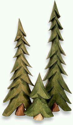 Pine Trees Wood Craving