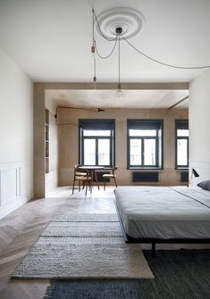 Spacious and Scandinavian-Inspired Apartment by Architecture with a Great Dose of Visual Interest - Nordic Design Decor Scandinavian, Scandinavian Interior Design, Loft Interiors, World Of Interiors, Loft Interior Design, Home Interior, Loft Design, Lofts, Interior Minimalista