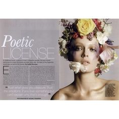 Allure Editorial Poetic License, September 2010 ❤ liked on Polyvore