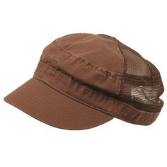 Enzyme Mesh Army Cap-Brown