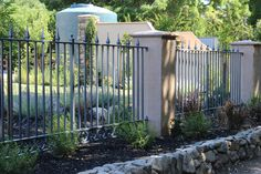 Ornamental Iron fence hand craftedright here at A&J Fencing  www.AandJFencing.com