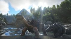 here is a  scene from ark survival evolved
