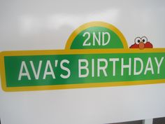 elmo+birthday+ideas | ... of big bird, elmo and cookie monster leading into the door. Oh boy