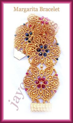 Have some fun with this party bracelet, the pattern includes detailed step by step graphics with text instructions, photos of finished bracelets Seed Bead Patterns, Jewelry Patterns, Bracelet Patterns, Beading Patterns, Embroidery Bracelets, Beaded Embroidery, Bead Crafts, Jewelry Crafts, Bracelet Tutorial