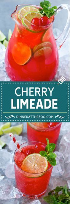 Cherry Limeade recipe - perfect for summertime!