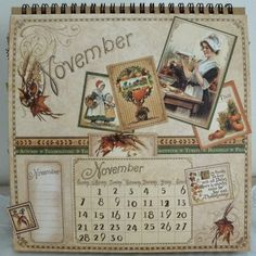 Graphic 45 Calendar Pages | Graphic+45+Easel+Calendar+-+Place+In+Time+-+November+-+Artistic+Hen ...