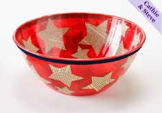 Dollar store makeover...Patriotic Bowl!