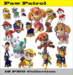 Paw Patrol Collection PNG Vector Instant Download Disney Clipart Digital Albums…