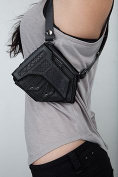black stealth double holster by JungleTribe on Etsy, $239.00. Ugg I want this too!! SO sick!!