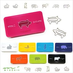 Animal Shaped Paper Clips: so cute!